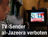 Ägypter verfolgen TV-Nachrichten