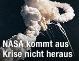 """Exlposion der Raumfähre """"Challenger"""" kurz nach ihrem Start"""