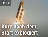 "Raumfähre ""Challenger"" kurz nach dem Start"