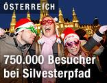 Feiernde vor dem Wiener Rathaus