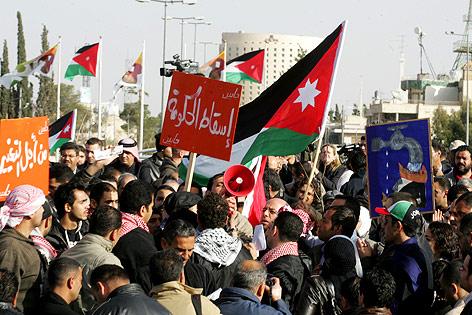 Proteste in Amman, Jordanien