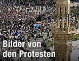 Menschenmassen auf Tahrir-Platz