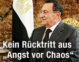 Ägyptens Präsident Hosni Mubarak im Präsidentenpalast in Kairo