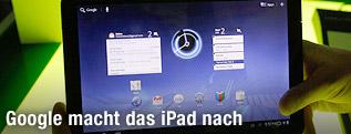 Tablet-PC mit dem Betriebssystem Android 3.0 Honeycomb