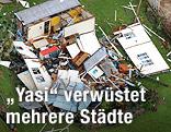 Ein vom Zyklon zerstörtes Haus