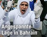 Demonstrantin in Manama, Bahrain