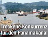 Schiffe auf dem Panamakanal