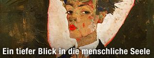 """Reproduktionsfoto """"Selbstportrait mit Pfauenweste"""""""