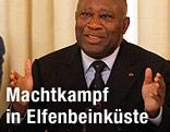 Präsident der Elfenbeinküste Laurent Gbagbo