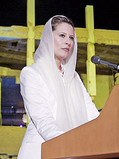 Aischa al-Gaddafi, Tochter des libyschen Staatsführer Muammar al-Gaddafi