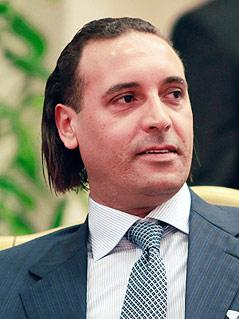 Hannibal al-Gaddafi, einer der Söhne des libyschen Staatsführers Muammar al-Gaddafi