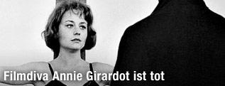 """Schauspielerin Annie Girardot und Renato Salvatori am Filmset von """"Rocco et ses Freres"""""""
