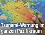 Karte des Pazifikraums
