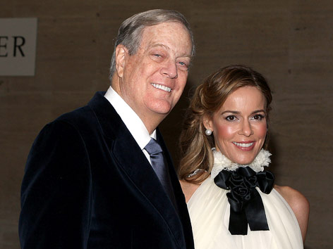Industrieller David Koch und Frau Julia