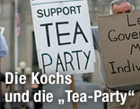 Untersützt-Tea-Party-Schild