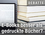 E-Book vor Büchern