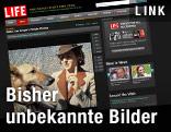 Screenshot der Seite www.life.com: Eva Braun mit Schäferhund