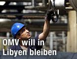 Arbeiter einer Ölfirma