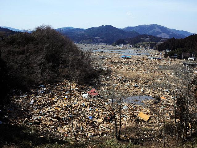 Zerstörte Stadt Rikuzentakada