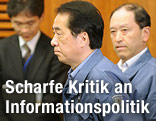 Japans Premier Naoto Kan mit Ministern