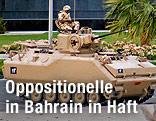 Panzer auf einer Straße in Manama