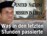 Eingang der Botschaft der Vereinten Nationen in Libyen