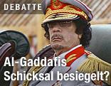 Libyens Staatschef Muammar Al-Gaddafi in Uniform