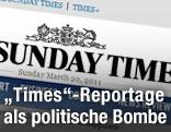 """Screenshot der """"Sunday Times"""""""