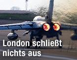 Ein britischer RAF Tornado Kampfjet beim Start