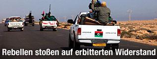 Rebellen auf dem Weg nach Sirte