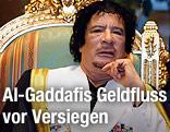 Muammar Al-Gaddafi auf Thron
