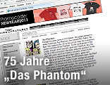 """Screenshot der Website kingfeatures mit dem Comic-Charakter """"Das Phantom"""""""