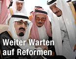 Saudi-Arabiens König Abdullah und dessen Bruder Prinz Salman bin Abdel Aziz