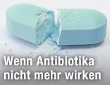 Zerbrochene Tablette