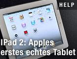 Blick auf das iPad 2