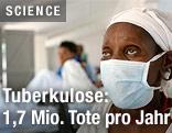Tuberkulose-Patient in einem Krankenhaus