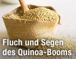 Quinoa-Körner in einem Sack