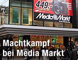 Media-Markt-Reklame auf Kaufhaus