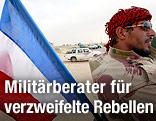 Rebelle mit französischer Flagge