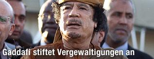 Der libysche Machthaber Muammar al-Gaddafi