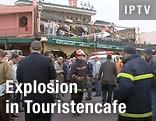 Cafe in Marakesch nach Explosion