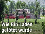 Gebäude in Abbottabad (Pakistan), in dem sich Osama bin Laden versteckt gehalten hat.