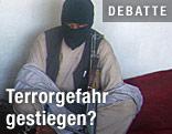 Vermummter Taliban-Kämpfer