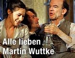 Schauspieler Johanna Wokalek, Philipp Hauß und Martin Wuttke