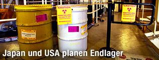 Atommüllbehälter im Atomkraftwerk Millstone