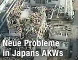 Luftaufnahme des zerstörten Atomkraftwerks Fukushima I