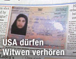 Passfoto einer Bin-Laden-Witwe