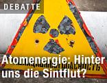 Schild warnt vor radioaktiver Strahlung