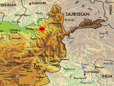 Afghanisthan-Karte