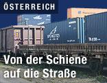 Container auf Güterwaggons
